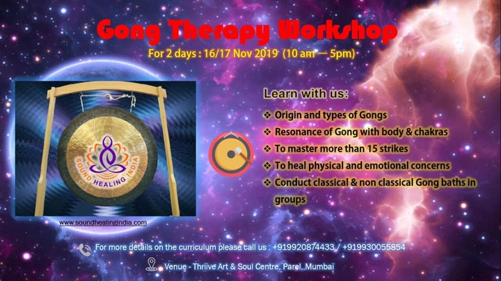 Gong Therapy Workshop by Sound Healing India
