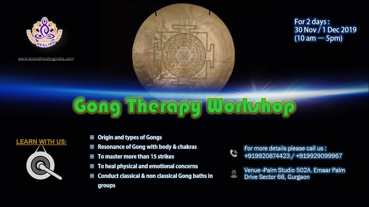 Gong Therapy Workshop in Gurgaon (Gurugram)
