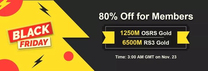 Mark Date Nov 23 to Obtain Black Friday 80% Off RS 2007 Gold on RSorder