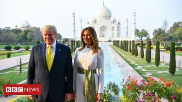 Trumps visit 'monument of love'