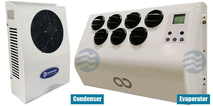 Guchen Ecooler 2600 12v No-idle Air Conditioner for Truck